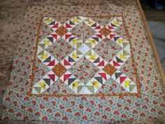 Civil War Reproduction Miniature Quilt Top 11.5x11.5 mountaincottagequilts | eBay
