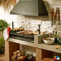 Custom grill that I want. Outdoor Areas, Outdoor Rooms, Outdoor Living, Outdoor Cooking Area, Outdoor Oven, Backyard Kitchen, Kitchen Dining, Parrilla Exterior, Dirty Kitchen