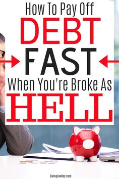 Looking to live a debt free life? Here are a handful of ways to payoff debt quickly. I can't believe i didn't think of these sooner. Money Saving Challenge, Money Saving Tips, Money Tips, College Savings Plans, Debt Free Living, Money Plan, Saving For College, Get Out Of Debt, Investing Money