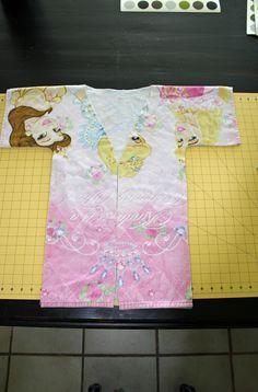 icandy handmade: (tutorial) Kimono Towel Robe