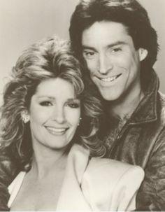 1986 Deidre Hall and Drake Hogestyn. Drake Hogestyn, Deidre Hall, Tv Soap, Days Of Our Lives, Couples, Celebrities, Hair Styles, Life, Soaps