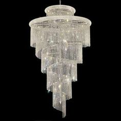 Beautiful chandelier ideal for hallway with high ceiling or crystal mozeypictures Gallery