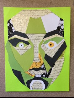 "Students integrated math into art by exploring the Golden Ratio within the human face. Students used the ""Mask of Divine Proportion"" to collage the planes of the face together, using a variety of..."