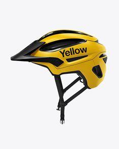 d59241089214 Cycling Helmet Mockup - Side View in Apparel Mockups on Yellow Images  Object Mockups. Országúti Kerékpár