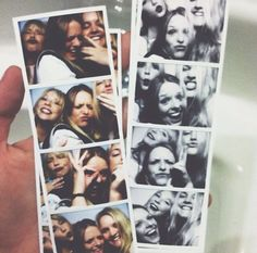 To use a photo booth to take photos with my friends - friends. models. photo. fun. day out. laughs.