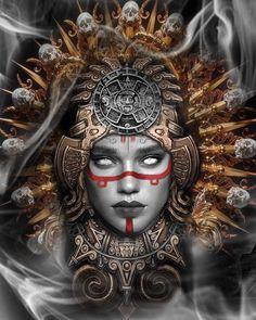 Chicano Art Tattoos, Body Art Tattoos, Aztec Tattoos Sleeve, Aztec Warrior Tattoo, Mayan Tattoos, Mexican Art Tattoos, Tattoo Studio, Aztec Symbols, Azteca Tattoo