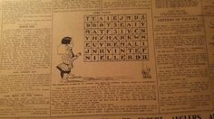 LOT #1- EARLY 1900'S SAM LOYD ERA PUZZLE PAGES- 100 ORIGINAL NEWSPAPER PAGES