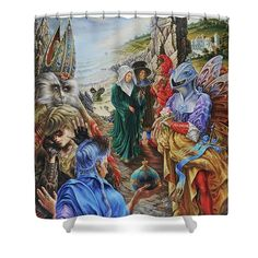 The Presentation Of Gifts Shower Curtain for Sale by Alexander Donskoi