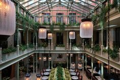 Atrium Restaurant, Nomad Hotel, Roman And Williams, British Pub, Timber Panelling, New London, Police Station, London Hotels, Covent Garden