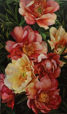 Buy Peonies, Oil painting by Sofia Moklyak on Artfinder. Discover thousands of other original paintings, prints, sculptures and photography from independent artists. New painting [. Buy Peonies, Oil Painting For Beginners, Painting Videos, Oil Painting Texture, Oil Painting Flowers, Flower Art, Canvas Wall Art, Painting Canvas, Images
