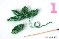 Tutorial: cactus nopal con flores (amigurumi cactus - Her Crochet Crochet Tree, Crochet Fruit, Crochet Cactus, Crochet Flowers, Knit Crochet, Amigurumi Patterns, Crochet Patterns, Cactus E Suculentas, Cactus Craft