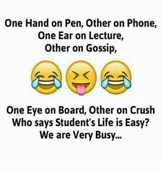 Hahaha yes we are very busy funny thoughts, funny images, funny pictures, twisted Funny School Jokes, Very Funny Jokes, Really Funny Memes, Funny Facts, Exams Funny, Sarcastic Jokes, Hilarious, Random Facts, School Humor