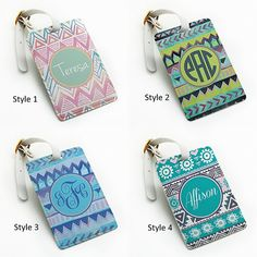 Personalized Luggage Tag Bag Tag Travel Tag by BeanBeanCase, chevron ...