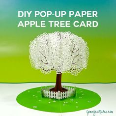 The extraordinary Pop Up Paper Apple Tree Card Sliceform) – Jennifer Maker Pertaining To Diy Pop Up Cards Templates … Diy Pop Up Cards Templates, Diy Cards, Origami Templates, Box Templates, Business Templates, Banner Template, Paper Daisy, Paper Flowers, Pop Up Flower Cards
