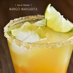 Mango Margarita perfect for summer parties and long hot afternoons by the pool or mowing the grass.