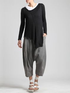 SUPER LOW CROTCH TENCEL PANTS - JACKETS, JUMPSUITS, DRESSES, TROUSERS, SKIRTS, JERSEY, KNITWEAR, ACCESORIES - Woman -