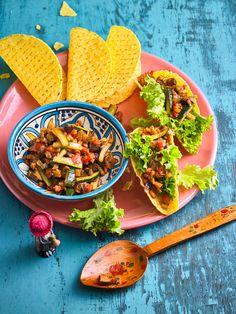 Auberginen-Gemüsefüllung für Tacos Taco Salat, Tacos, Tortillas, Burgers, Sandwiches, Veggies, Wraps, Low Carb, Mexican