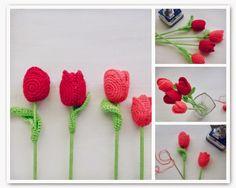 Crochet Tulips - Pattern giveaway