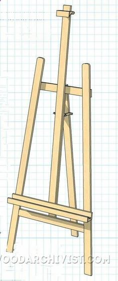 DIY Art Easel - Woodworking Plans and Projects - Woodwork, Woodworking, Woodworking Plans, Woodworking Projects Woodworking For Kids, Woodworking Basics, Beginner Woodworking Projects, Woodworking Jigs, Small Wood Projects, Diy Projects, Art Easel, Easels, Design