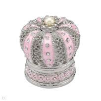 Brand New Pink Crown Enamel Jewelry Box Free Shipping