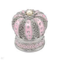 Brand New Pink Crown Enamel Jewelry Box Free Shipping