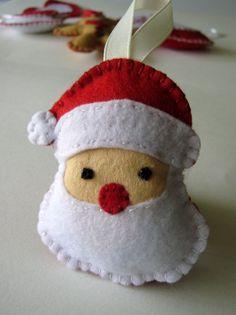 Santa Felt Christmas Ornament