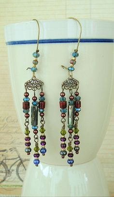 Boho Chandelier Earrings Bohemian Jewelry Gypsy by BohoStyleMe