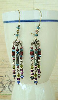 Boho Chandelier Earrings Bohemian Jewelry Gypsy by BohoStyleMe