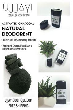 Hemp   Activated Charcoal Deodorant