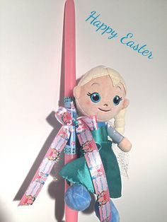 Shop for easter on Etsy, the place to express your creativity through the buying and selling of handmade and vintage goods. Greek Easter, Queen Elsa, Elsa Frozen, Happy Easter, Princess Peach, Easter Candle, Candles, Dolls, Christmas Ornaments