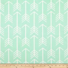 Screen printed on cotton duck, this versatile medium-weight fabric is perfect for window accents (draperies, valances, curtains, and swags), accent pillows, duvet covers, and upholstery projects. Colors include mint green and white.