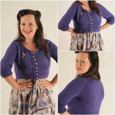Julia Bobbin - Miette Cardigan by Andi Satterlund great for beginner knitters