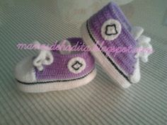Converse moradas para bebé