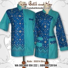Model Seragam Batik Terbaru 2017 Blouse Batik Modern, Kebaya Hijab, Embroidered Jacket, African Fashion, Brokat, Blazer, My Style, Fasion, Womens Fashion
