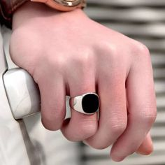 Solid Polished Stainless Steel Men Ring Band Biker Men Signet Ring Finger Jewelry famous designer black rings for men Gilet Jeans, Middle Finger Ring, Polished Man, Ring Set, Stainless Steel Rings, Argent Sterling, Sterling Silver, Gold Fashion, Fashion Jewelry