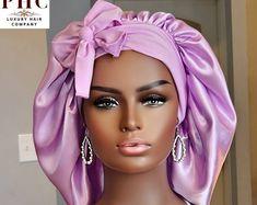 Silk Bonnet, Bonnet Cap, Hair Bonnet, Girls Natural Hairstyles, Natural Hair Styles, Short Hair Styles, Hair Supplies, Silk Hair, Braid Styles