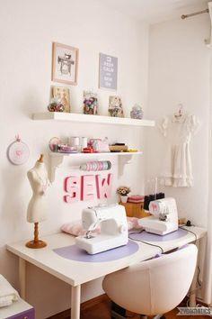 Ideias para decorarmos os nossos quartos de costura :) Boas…