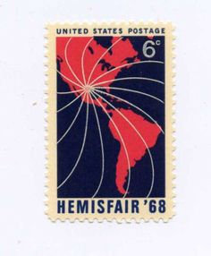 HEMISFAIR '68 Individual Stamp Celebrates San Antonio TX Anniversary Scott #1340