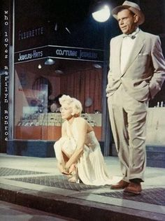 """Marilyn Monroe & Tom Ewell in """"The Seven Year Itch"""" 1955"""