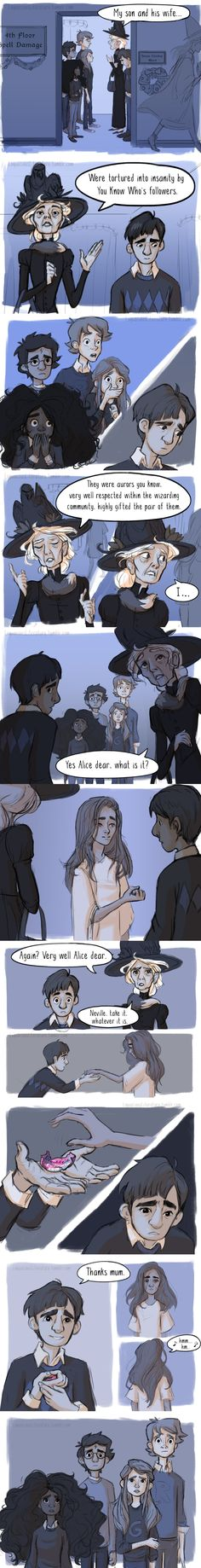 Can you hear my heart shattering? Alice, Agustus, and Neville longbottom. Order of the Phoenix