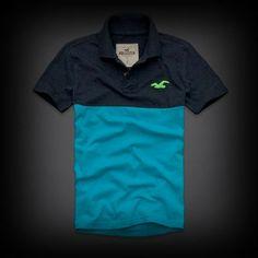 ホリスター Boat Canyon Polo ポロシャツ 配色デザインがオシャレで個性的!他の人と差をつけれるアイテム。