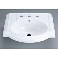 KOHLER Devonshire White Pedestal Sink Top (Widespread)