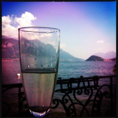 Prosecco in Mennagio on Lake Como Italy