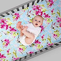 Perfect for your Baby and Nursery Glenna Jean Cherry Blossom Fitted Sheet (Floral),Glenna Jean Cherry Blossom Fitted Sheet (Floral), High end crib linens with superb quality: Made in the USA of 100% ultra-soft cotton, This collection of a coordinating Quilt, bed Skirt and Fitted sheet were meticulously crafted by expert seamstresses. Glenna Jean Cherry Blossom baby girl crib set: in this...