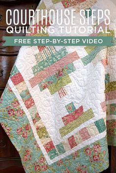 Make a Jelly Roll Courthouse Steps Quilt with Jenny Doan in her YouTube Tutorial!