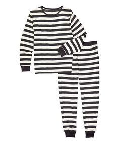 b9c1555103c Leveret Charcoal   White Stripe Organic Cotton Pajama Set - Men