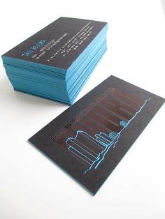 Business card for urbanist hot stamping print edges design business card hotstamping print edges design print boston press https colourmoves
