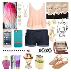 """""""#246: Ice Cream with BaekHyun (EXO)"""" by exoo ❤ liked on Polyvore featuring River Island, Speck, Creed, Blue Nile, Greenland, Marc by Marc Jacobs, Monsoon and Charlotte Russe"""