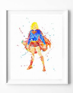 Supergirl Poster Art Print Superhero Superman Watercolor Painting Wall Art Home Decor Nursery Kids Gifts for Him [156]  #supergirl #superman #justiceleague #superhero #dc #comics #movie #watercolor #print #poster #homedecor #wallart #gifts #nuresey #kids  https://subcow.net  FREE SHIPPING to worldwide + 20% off DISCOUNT