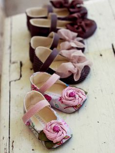It's never too early to start a girl's shoe collection! <3 #baby #shoes